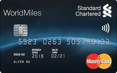 Thẻ tín dụng Standard Chatered Priority Worldmiles